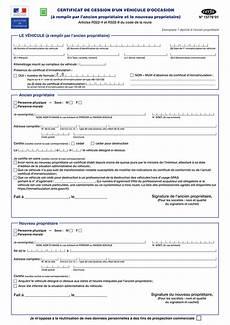 certificat de cession de v 233 hicule d 233 marche et guide complet