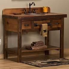 waschtisch holz landhausstil reclaimed barnwood open vanity for rustic bathrooms