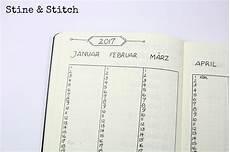 Bullet Journal Jahresübersicht - stine stitch ordnungshelfer bullet journal