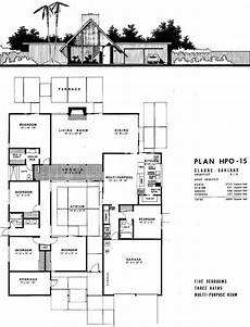 eichler house plans eichler floor plan hpo 15 floor plans joseph eichler