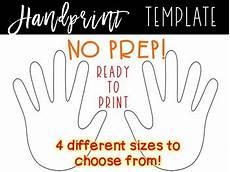 Handprint Template Handprints Handprint Cut Outs By