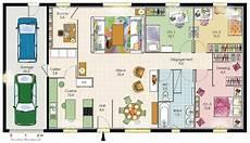 faire plan maison mod 232 le de plan de maison plain pied avec 3 chambres et