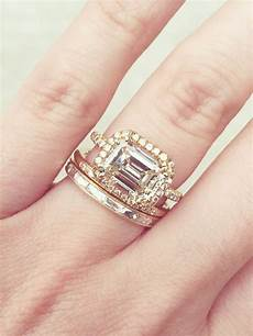 20 real with gorgeous wedding band and engagement