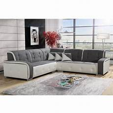 canape gris blanc canap 233 d angle r 233 versible tissu gris et pvc blanc jama 239 ca