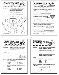context clues activities and task cards bundle 25