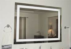 lighted vanity mirror led lighted wall mounted mam85636