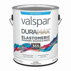 valspar duramax flat masonry and stucco elastomeric tintable white latex exterior paint actual