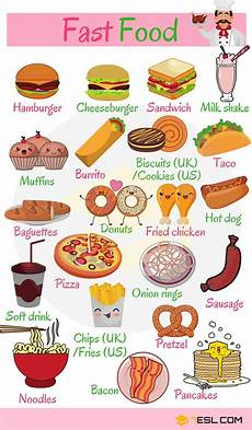 types of food and drinks with pictures food vocabulary 7 e s l
