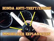 HONDA  Anti Theft/Engine Immobilizer Explanation DIY