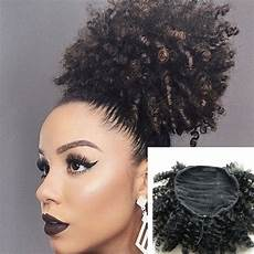 afro curly weave ponytail hairstyles clip ins