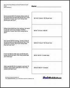 word problems worksheets addition subtraction multiplication division 10963 we addition subtraction multiplication and division word problems dealing with money