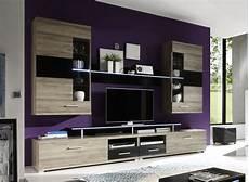 wohnwand san remo wohnwand san remo eiche schwarz woody 61 00050 modern