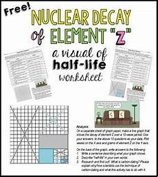 earth science radioactive decay worksheet 13276 nuclear decay of element z a visual of half chemistry worksheets teaching chemistry