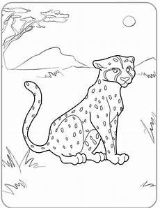 ausmalbilder malvorlagen gepard kostenlos zum