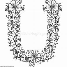 free to download floral alphabet letter u coloring pages
