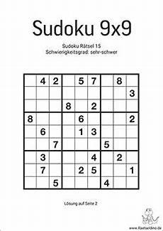 schwere sudoku vorlagen zum ausdrucken raetseldino de
