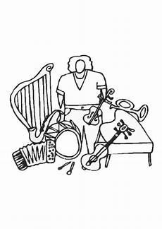 Malvorlagen Instrumente Instrumenten Malvorlage Instrumente Kostenlose Ausmalbilder Zum