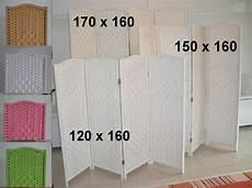 Raumteiler 120 Cm Breit - 4tlg paravent span wand raumteiler natur wei 223 rosa gr 252 n ebay