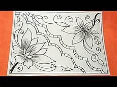 Menggambar Motif Batik Yang Mudah Digambar Untuk Anak Sd