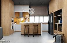 Contemporary Kitchen Interiors Modern Kitchen Designs With Wooden Accent Decor Brings A