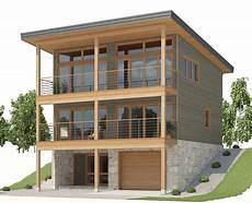 sloping lot house plans hillside sloping lot house plan living area on the top floor