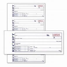 money rent receipt book 11 quot length 7 62 quot width quickship com