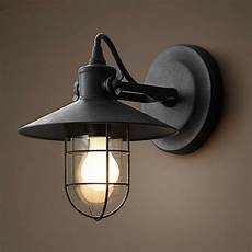 iron vintage retro industrial loft rustic wall sconce