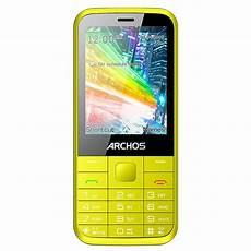 archos f28 jaune mobile smartphone archos sur ldlc