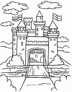 castle free coloring pages coloring pages