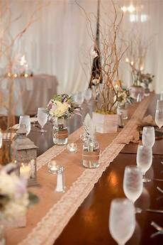 now sale wedding table decor burlap and lace table runners with white lace wedding