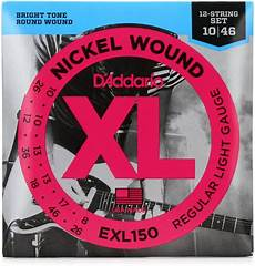 D Addario Exl150 Nickel Wound Light 12 String Electric