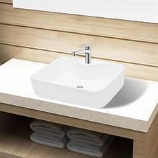 vidaxl keramik waschbecken aufsatzwaschbecken waschtisch