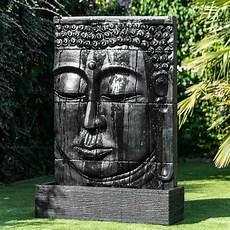 grande fontaine bouddha exterieur mur d eau avec bassin visage de bouddha noir h 1 m 80