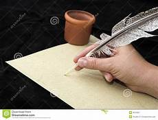 lettere roma writting with feather royalty free stock photography