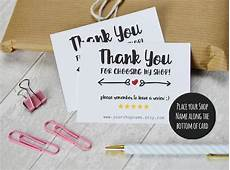 thank you packaging card template etsy shop thank you cards instant etsy sellers