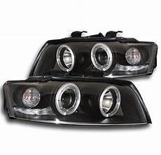 2002 2005 audi a4 s4 black eye halo led projector headlights l new pair ebay