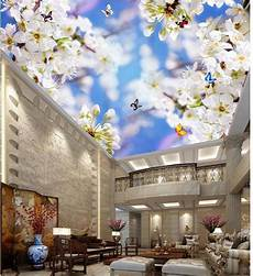flower wallpaper ceiling photo wallpaper custom wallpaper fresh white flowers
