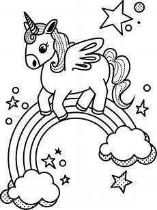 coloring pages of rainbows unicorn and rainbow