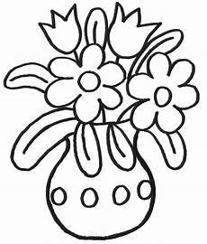 Ausmalbilder Blumen Einfach Ausmalbild Muttertag Topf Mit Blumen Kostenlos Ausdrucken