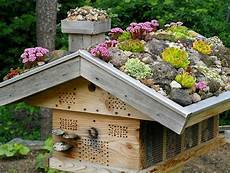 Igelhaus Bauen Stein - bug hotel green roofs and insect hotel on