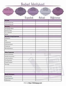 printable budget worksheet little us
