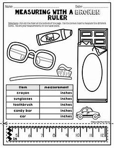 measuring with a broken ruler task cards posters and worksheets 2nd grade