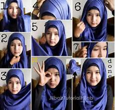 Tutorial Pashmina Simple Bahan Satin Ragam Muslim