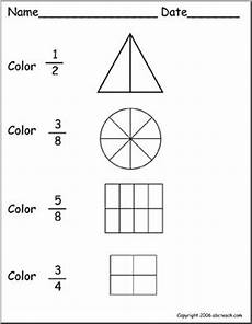 fraction worksheets colouring 3874 coloring fractions 4 worksheet abcteach