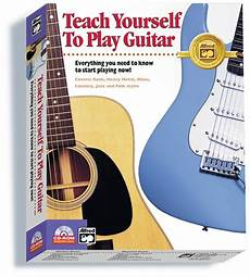 teach me how to play guitar alfred s teach yourself to play guitar guitar boxed edition cd rom
