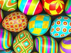 Bunte Ostereier Bilder - colorful painted easter eggs stock photo colourbox