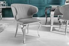 stuhl modern eleganter stuhl modern barock ii edel grau samt
