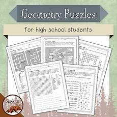 geometry puzzle worksheets high school 736 geometry puzzles for high school students by the puzzle den tpt
