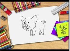 Hoe teken je een varken? Zelf varkens leren tekenen   YouTube