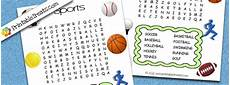 easy kids word search sports printable treats com